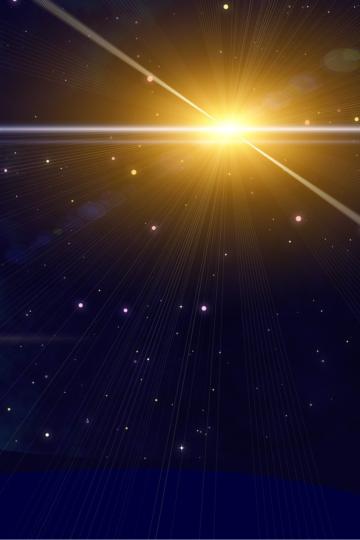Imagem de estrela brilhante num céu escuro
