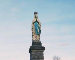 Fotografia de imagem da Virgem Maria