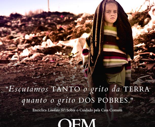imagem da OFM com menina pobre