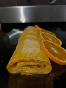 fotografia de torta de laranja